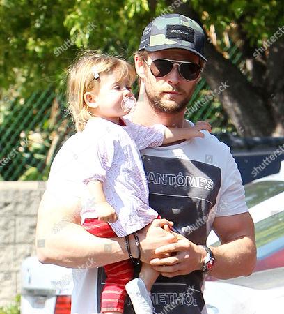 Chris Hemsworth, daughter India Rose Hemsworth