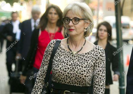 Lois Pistorius arrives at the Pretoria High Court