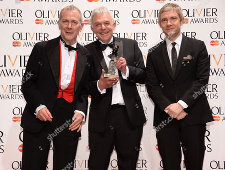 Stock Picture of Robert Goodale and David Goodale (Best new comedy) and Martin Freeman