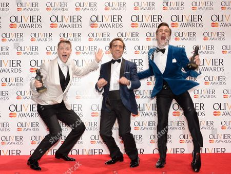 Stephen Ashfield (Best Performance in a Supporting Role), Robert Lindsay and Gavin Creel (Best Actor in a Musical)