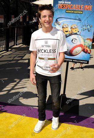 Editorial photo of 'Despicable Me Minion Mayhem' at Universal Studios, Los Angeles, America - 11 Apr 2014