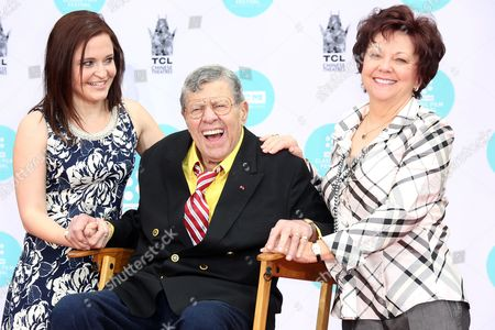Editorial image of Jerry Lewis handprint ceremony, Los Angeles, America - 12 Apr 2014