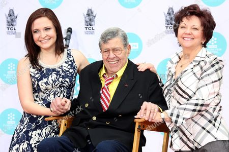 Stock Image of Danielle Sarah Lewis, Jerry Lewis and SanDee Pitnick