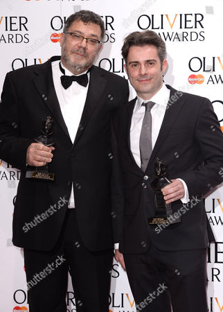 Paul Pyant and John Driscoll accepts the award for Best Lighting Design for Charlie and the Chocolate Factory