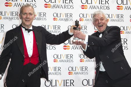 Robert Goodale and David Goodale accepts the award for Best New Comedy for Jeeves and Wooster In Perfect Nonsense