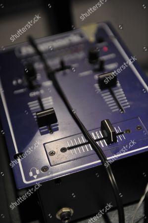 Reggio Emilia Italy - June 30: Detail Of Numark Audio Equipment