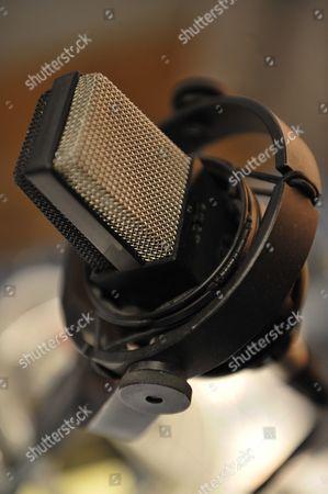 Reggio Emilia Italy - June 30: Detail Of A Microphone Head