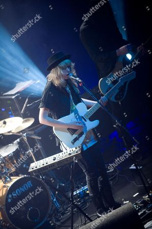 Bristol United Kingdom - May 2: Phillipa Brown Better Known By Her Stage Name Ladyhawke Performing Live On Stage At The O2 Academy In Bristol On May 2
