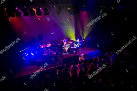 Bristol United Kingdom - May 2: Phillipa Brown Better Known By Her Stage Name Ladyhawke Performing Live On Stage With Her Band At The O2 Academy In Bristol On May 2