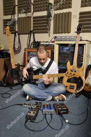 A Man Uses A Jen Kps-900 Phase Shifter With An Electric Guitar Session For Future Music Magazine