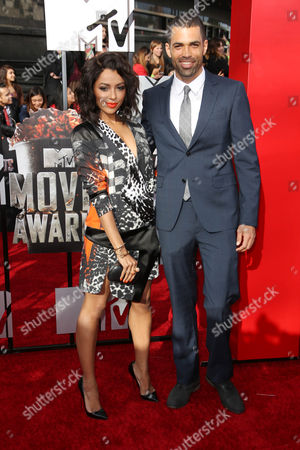 Stock Photo of Katerina Graham and her fiance Cottrell Guidry