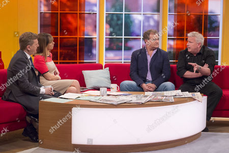 Aled Jones and Kate Garraway with Hugh Bonneville and David Westhead