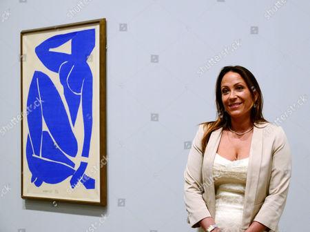 Sophie Matisse, great granddaughter of Matisse with Blue Nude III