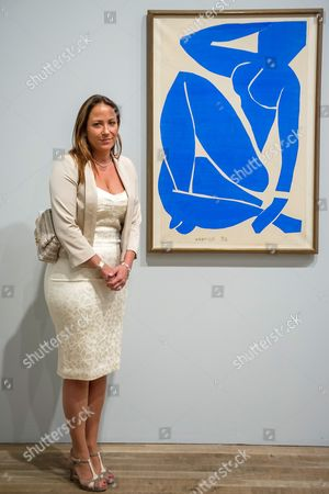Stock Picture of Sophie Matisse, the artist's great grandaughter with Blue Nude
