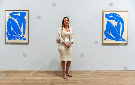 Sophie Matisse, the artist's great grandaughter with Blue Nude
