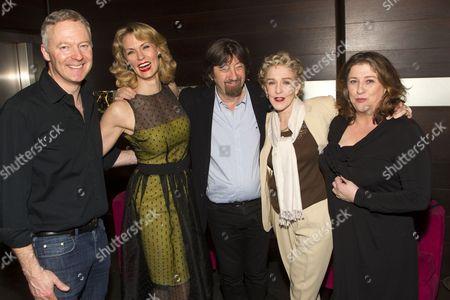 Rory Bremner (Crestwell), Leigh Zimmerman (Miranda Frayle), Sir Trevor Nunn (Director), Patricia Hodge (Felicity) and Caroline Quentin (Moxie)