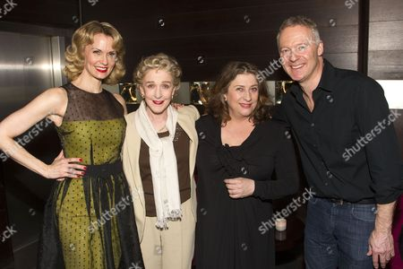Stock Image of Sir Trevor Nunn (Director), Leigh Zimmerman (Miranda Frayle), Patricia Hodge (Felicity), Caroline Quentin (Moxie) and Rory Bremner (Crestwell)