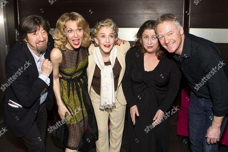 Sir Trevor Nunn (Director), Leigh Zimmerman (Miranda Frayle), Patricia Hodge (Felicity), Caroline Quentin (Moxie) and Rory Bremner (Crestwell)