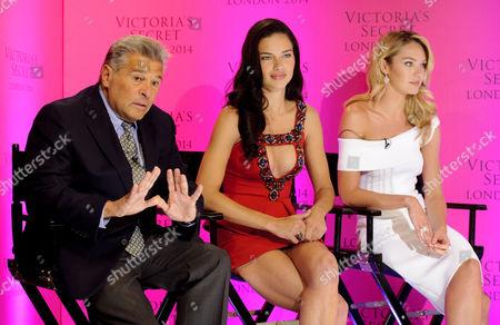 Victoria Secret's CMO Ed Razek, Adriana Lima and Candice Swanepoel