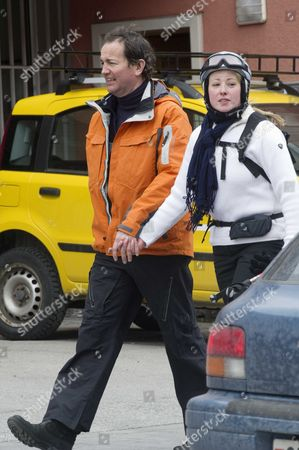 Tory Mp Nick Hurd The Minister For Civil Society Strolls Through Klosters With His Second Wife Lady Clare Kerr - Seventeen Years His Junio. The Couple Were On A Skiing Break With Her Father Michael Ancram The Former Conservative Party Chairman.