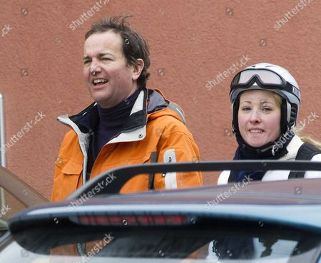 Editorial picture of Tory Mp Nick Hurd The Minister For Civil Society Strolls Through Klosters With His Second Wife Lady Clare Kerr - Seventeen Years His Junio. The Couple Were On A Skiing Break With Her Father Michael Ancram The Former Conservative Party Chairman.