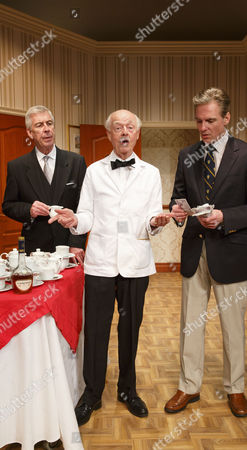 Stock Image of Jeffrey Holland (Manager), Ray Cooney (Waiter), Michael Praed (Richard Willey)