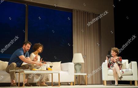 Lloyd Owen (Mike), Angel Coulby (Kate) and Imelda Staunton (Margaret)