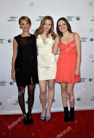 Alexia Rasmussen, Louisa Krause and Emily Meade
