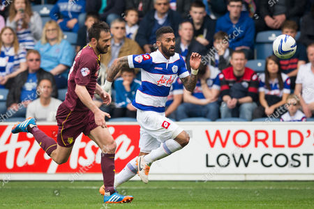 Stock Picture of Armand Traore of QPR and Marco Cassetti of Watford