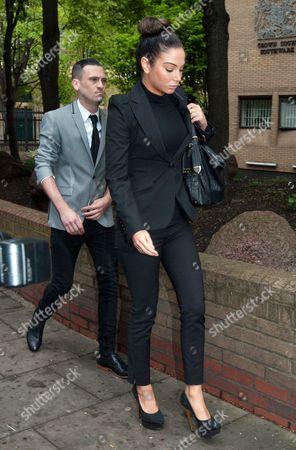 Gareth Varey and Tulisa Contostavlos arriving