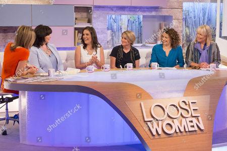 Kaye Adams, Coleen Nolan, Yasmina Siadatan, Katie Sargant, Nadia Sawalha and Linda Robson.
