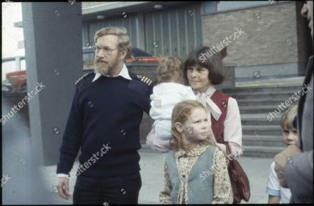 Capt Robin Green, Capt. of Sir Tristram- re: Falkland Conflict. With Family.