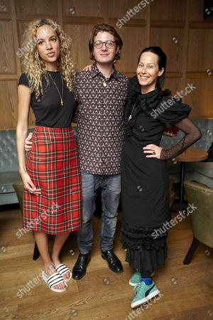Phoebe Collings James, Dominic Jones and Amanda Harlech
