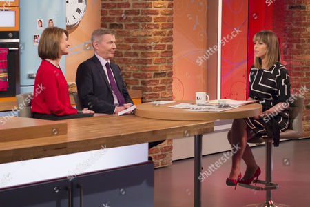 Stock Image of Jayne Secker and Andrew Pierce with Kate Garraway