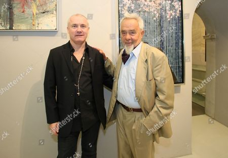 Editorial picture of Damien Hirst - Arnulf Rainer exhibition in Baden, Germany - 23 Apr 2014