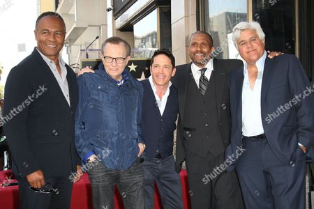 Stock Picture of Ray Parker Jr., Larry King, Dave Koz, Tavis Smiley and Jay Leno