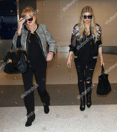 Stock Image of Fergie Duhamel and mother Theresa Ann Ferguson