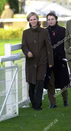 Zara Phillips with her friend Rebecca Morgan