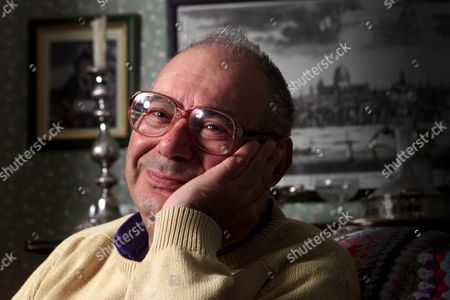Stock Image of RABBI LIONEL BLUE IN HIS NORTH LONDON HOME