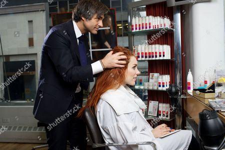 Editorial image of Journalist Joanna Della Ragione has her hair styled by Julien Farel, Manhattan, New York, America - 25 Mar 2014