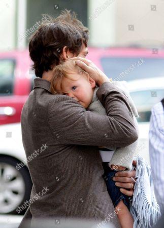 Hugh Dancy and son Cyrus Dancy