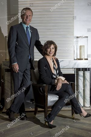 Actress Anne Archer and her husband and director Terry Jastrow attend a photocall at the Corinthia Hotel.