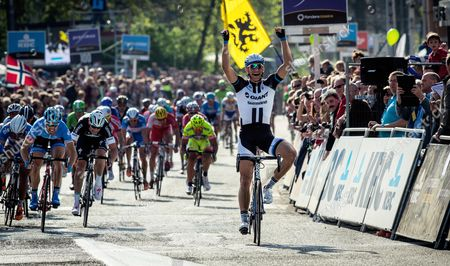 Marcel Kittel (Giant-Shimano) made the rest of the sprinters look as if they were glued to the tarmac, hitting out early in the bunch kick to win the Scheldeprijs over Tyler Farrar (Garmin-Sharp) and Danny Van Poppel (Trek Factory Racing), Belgium