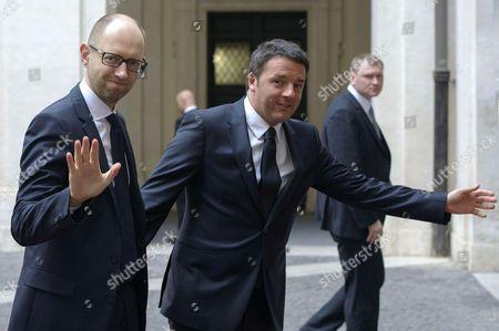 Ukraine Prime Minister Arseniy Yatsenyuk meets Italian Prime Minister Matteo Renzi