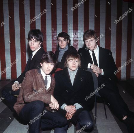 Stock Picture of The Yardbirds at the Marquee - Jeff Beck, Jim McCarthy, Paul Samwell-Smith, Keith Relf and Chris Dreja