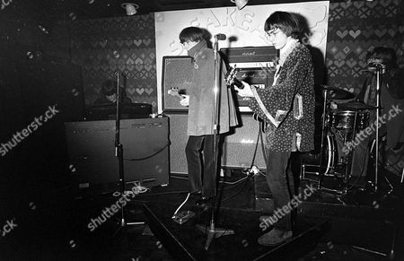 Stock Image of The Soft Machine in concert at the Speakeasy, London, Britain - Mike Ratledge, Kevin Ayers, Daevid Allen and Robert Wyatt