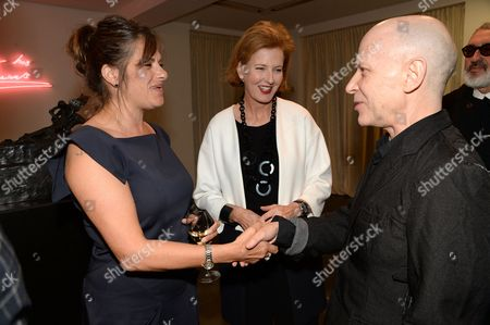 Tracey Emin, Julia Peyton-Jones and Adrian Joffe