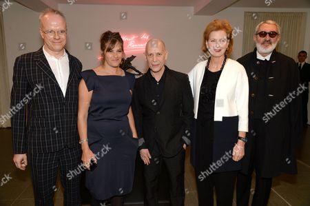 Hans-Ulrich Obrist, Tracey Emin, Adrian Joffe, Julia Peyton-Jones and Christian Astuguevieille