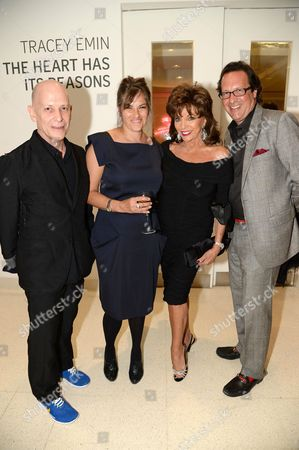 Adrian Joffe, Tracey Emin, Joan Collins and Guest