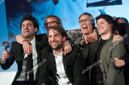 Head Chef Rene Redzepi celebrates after winning the World's 50 Best Restaurants Award